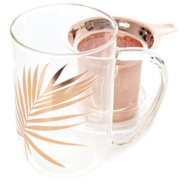 Nordic Mug Rose Gold Leaf