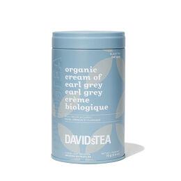 Boîte à motif de thé Earl Grey crème biologique