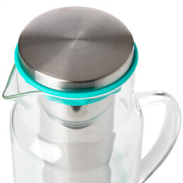 Glass Pitcher with Silicone Teal