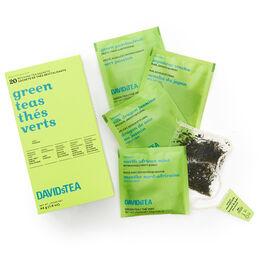 Thés verts - boîte de 20sachets de thés assortis