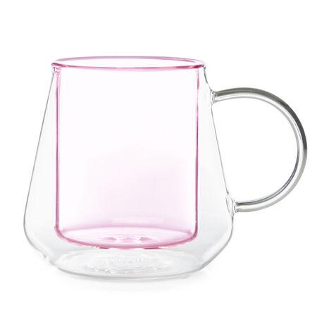 Tasse en verre à double paroi Diamant rose