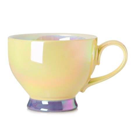 Yellow Opalescent Bloom Teacup