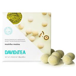 Matcha Matsu White Chocolate Covered Hazelnuts