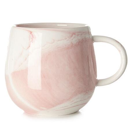 Deep Pink Marble Raindrop Mug