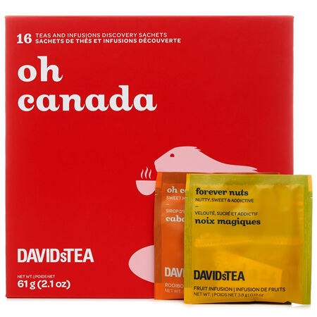 Mini-coffret de sachets de thé Oh Canada