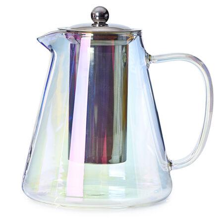 Théière en verre Nevis à fini nacré
