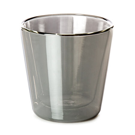 Gunmetal Double Walled Glass Nevis Cup