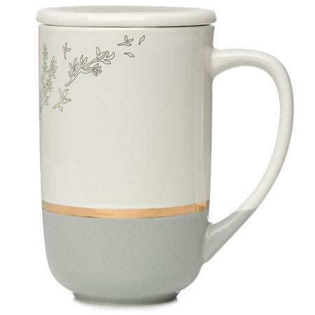 Tasse Nordic blanche à fleurs sauvages