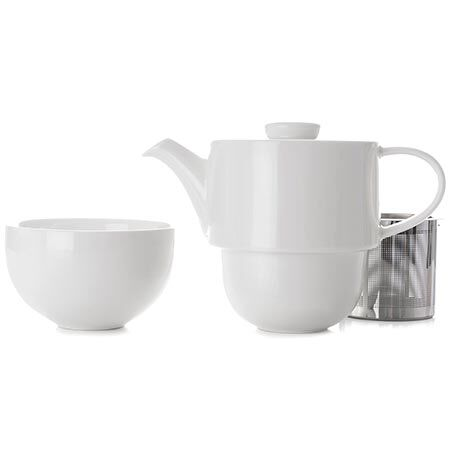 White Simplicity Tea for One
