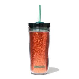 Favourite Tumbler Tritan Glitter Orange