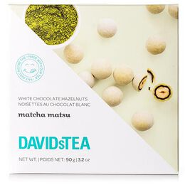 Matcha Matsu White Chocolate Covered Hazelnuts