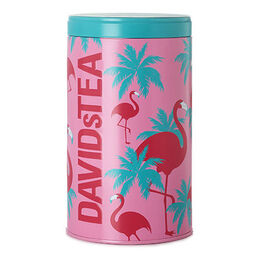 Seasonal Mega Tea Tin Flamingo