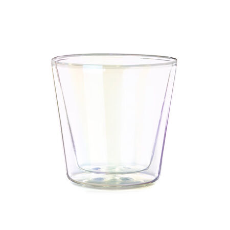 Opalescent Double Walled Glass Nevis Cup