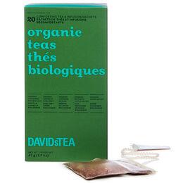 Thés biologiques - boîte de 20sachets de thés assortis