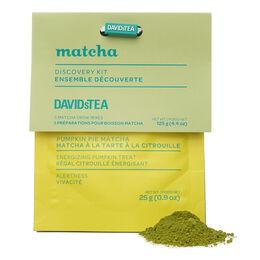 Ensemble dégustation de thés matcha automnaux