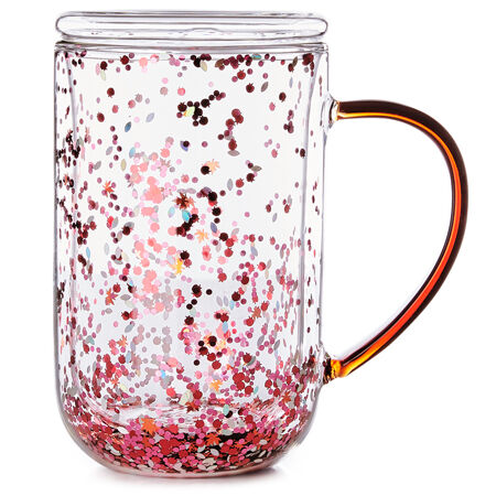 Tasse nordic en verre à confetti