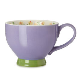 Bloom Teacup Chamomile Purple Cream