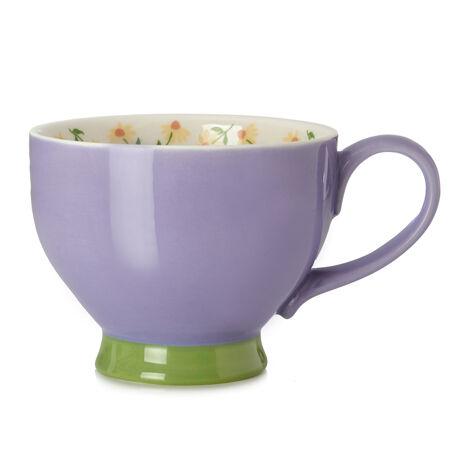 Purple Cream Bloom Teacup