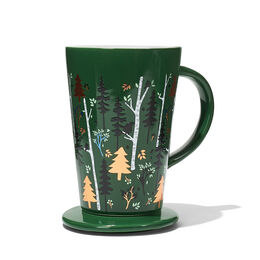 Colour Changing Perfect Mug Winter Trees Green