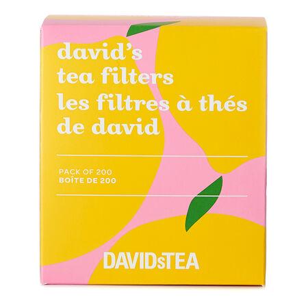 Lemon David's Tea Filters Pack of 200