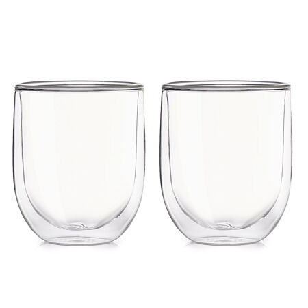 8 oz Double Walled Glass Cup (set of 2)
