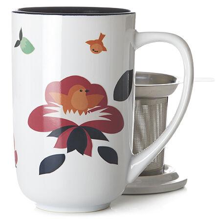 Tasse Nordic changeant de couleur fleurie