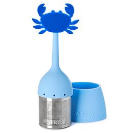 Infuser with Saucer Crabby