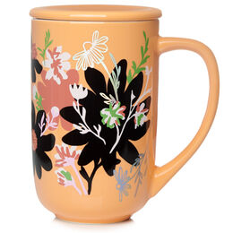 Colour Changing Nordic Mug Floral Bliss Clementine Cream