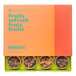 Coffret dégustation de 12 thés Frais fruité