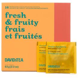 Mini-coffret de sachets de thé Frais et fruités
