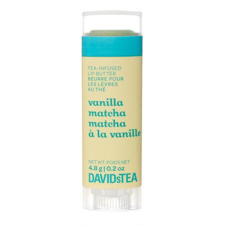 Beurre pour les lèvres au thé Matcha à la vanille