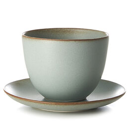 Pebble cup and saucer