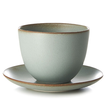 Kinto Pebble Moss Green Cup & Saucer
