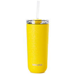 Favourite Tumbler Crackled Yellow