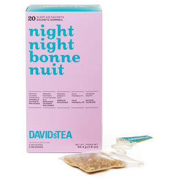 Night Night Sleep Tea Sachet Variety Pack of 20