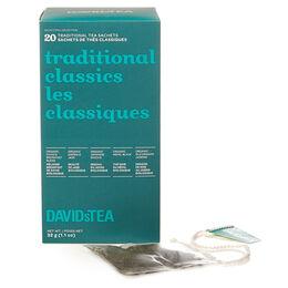 Thés classiques - boîte de 20sachets de thés assortis