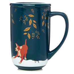 Nordic Mug Dog with Gold Leaves