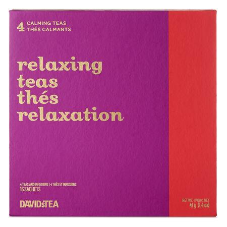 Minicoffret de sachets de thé Thés relaxation