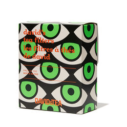 Les filtres à thé de David yeux - paquet de 100