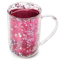 Double Walled Glass Nordic Mug Fantasy Confetti