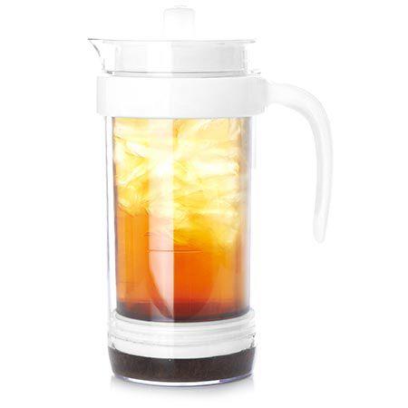Pichet à piston pour thé glacé blanc