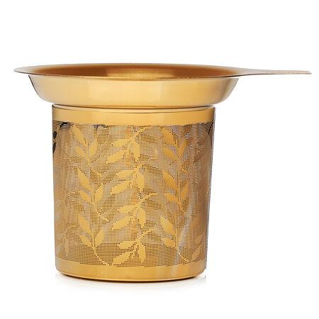 Infuseur parfait doré à feuilles