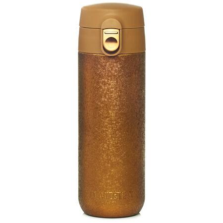 Crackled gold lock top travel mug
