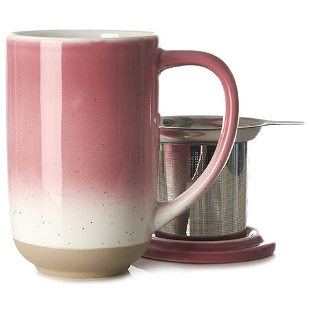 Deep Pink Speckled Nordic Mug