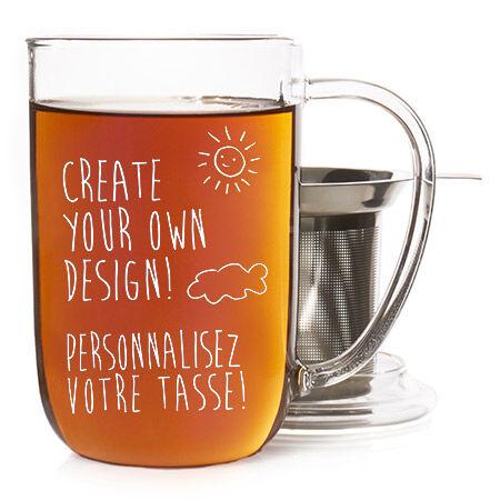 Davids Tea Nordic Mug with lid Embossed Snowflake Lapis 16 oz// 473 ml