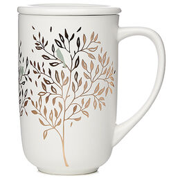 Color Changing Nordic Mug Lovebirds White & Gold