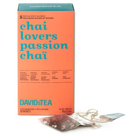 Boîte de thés assortis en sachet Passion chaï