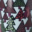 Tasse Nordic changeant de couleur à hiboux et pins