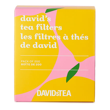 Boîte de 200 filtres à thé Les Thés DAVIDsTEA citron