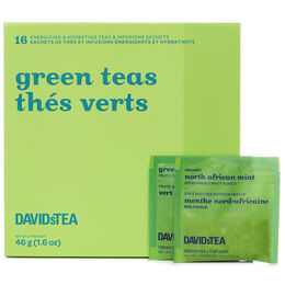 Green Teas Mini Sachet Tea Chest